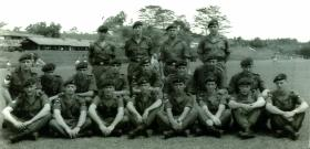 No 1 Platoon, A Company, 2 PARA, Kota Tinggi, Malaya Jungle Training School, c1965.