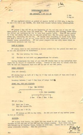 Interrogation report on PoW Cpl Gerhart.