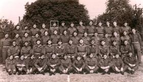 Headquarters 1st Parachute Brigade in 1944  L/Cpl Norman Harris top row, 5th from left