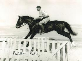 Cpl Macefield, pentathlon riding, 2 PARA, Cyprus, c1960.