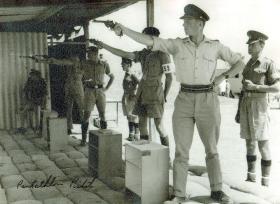 Pentathlon shooting, 2 PARA, Cyprus, c1960.