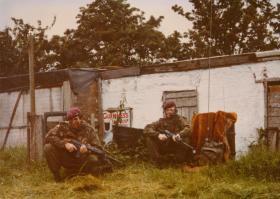 Bob Craft and Al Slater, 1 PARA, South Armagh, 1977.