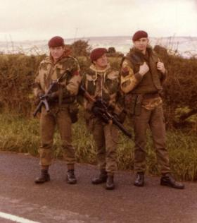 Men of Para Sqn RAC on Vehicle Checkpoint (VCP) duty, Northern Ireland, c.1975