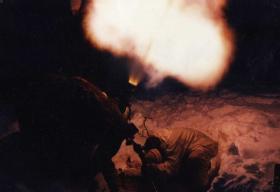 Members of 1 PARA Mortar Platoon on exercise in Norway, mid 1980s.