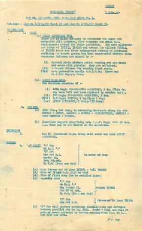 1st Parachute Battalion Operation Order No. 1. November 9, 1942.