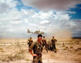 Pte O'Toole at Archers Post, Kenya, 1988.