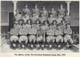 The Officers of The 1st Battalion, The Parachute Regiment, Egypt, May, 1952.