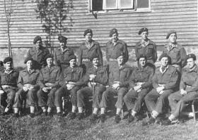 Group photo of officers of 9th Airborne Field Company/ Squadron, Norway 1945.