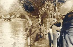 Prisoners of War at Oflag IX/AH Spangenberg, 1945.