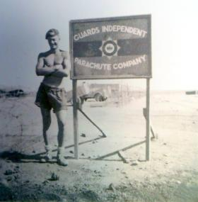 L/Cpl Ogden at the No 1 (Guards) Independent Company camp, Cyprus, 1956
