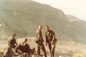 Members of Pathfinder Platoon Oman Jebel Akhdar 1986