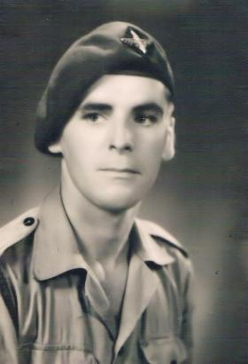 Solo portrait of a soldier from 7th (LI) Para Bn c1946