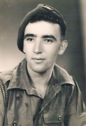 Solo portrait of a soldier from 7th (LI) Para Bn c 1946