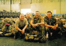 Members of 23 Parachute Field Ambulance (23 PFA) prior deployment to Op Barras in Sierra Leone.