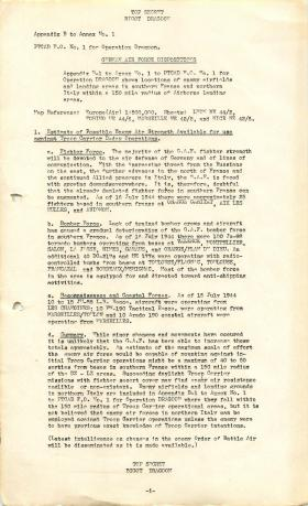 Information on enemy positions and strengths for Operation Dragoon