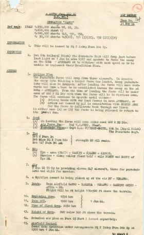 Outline plan of Operation Hasty.