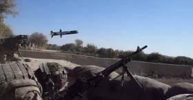Javelin missile launch by a member of 2 PARA Op Herrick XIII Afghanistan 2011