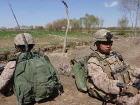 Members of the United States Marine Corps attached to the 2 PARA Small Strike Team Afghanistan 2011