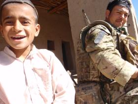 C/Sgt Mark Magreehan with Afghan boy Op Herrick XIII 2011