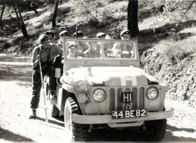 Op Sparrowhawk II, Sgt Bushell and team in the Troodos Forest, Cyprus, 1956.