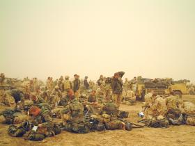 Members of 1 PARA Battle Group on Operation Telic, Iraq, March 2003.