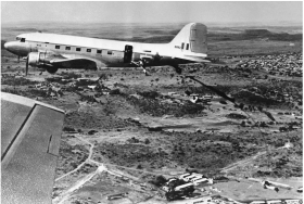 Former RAF Dakota in use by South African airborne forces 1964