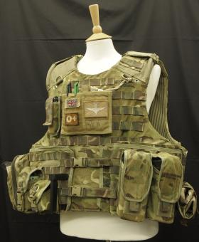 Osprey Assault Body Armour worn by Sgt James Kilbride, 2 PARA, Op Herrick XIII, Afghanistan, 2011.