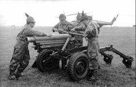 Oto Melara 105mm Model 56 Pack Howitzer, AATDC trials, 1959.