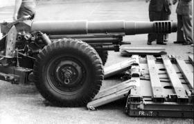 Oto Melara Mod 56 105mm Pack Howitzer, AATDC trials, July 1959.