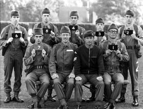 Intake photo of All Arms P Coy Course 809 September 1975.