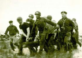 P Company, Log Race, 1960's.