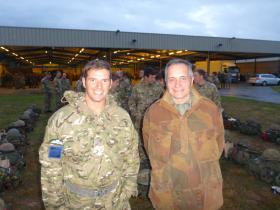 Lt Max Shackleton and Harvey Grenville, Eindhoven airbase, 22 September 2012.