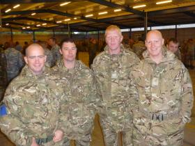 NCOs from 2 PARA, Eindhoven airbase, 22 September 2012.