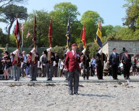 Standard Bearers at Trebah Military Day 2012
