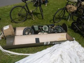 A Welbike displayed in a parachute container IWM Duxford 17 June 2012
