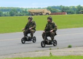 Welbikes displayed at IWM Duxford 17 June 2012