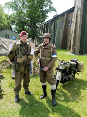 Re-enactors from RUR WWII Living History Group at IWM Duxford 17 June 2012