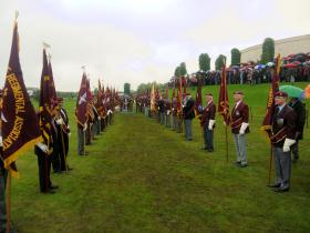 PRA Standard Bearers at the dedication ceremony of the National Memorial at the NMA, 13 July 2012.