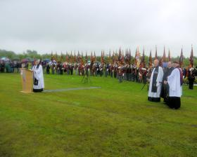 Photographs of the service of dedication at the National Memorial Arboretum, 13 July 2012.