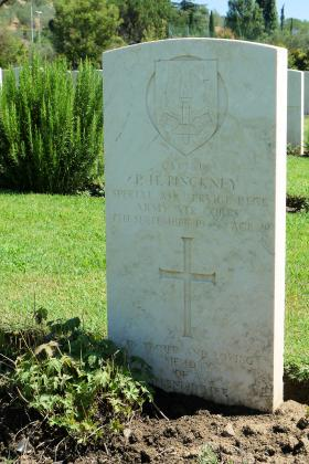 Headstone of Captain Pinckney (2 SAS Regt) Florence War Cemetery, July 2012.