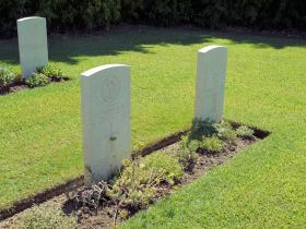 The graves of Captain Dudgeon and Para Brunt of 2 SAS Regt, Florence War Cemetery, July 2012