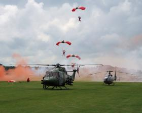 Red Devils at Support Our Paras Event Old Sarum 2008