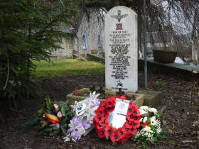 Photographs of the 13th Battalion memorial at Bure, 2013.