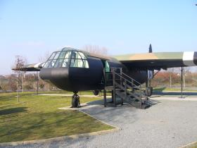 A reproduction of a Horsa at the Memorial Pegasus Museum