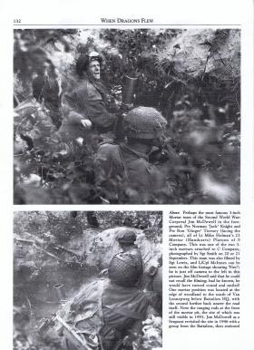 Extract from 'When Dragons Flew' of 3-inch Mortar Platoon members, 1st Battalion Border Regiment, September 1944