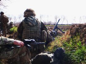 Members of 2 PARA on patrol Op Herrick XIII