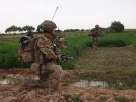 Members of 2 PARA on patrol Op Herrick XIII