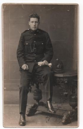 Colin Bliss as a young Police Constable