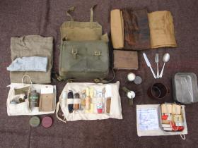 Contents of a Second World War British Paratrooper's haversack.