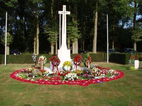 The Cross of Sacrifice after the 65th anniversary memorial service, Arnhem Oosterbeek War Cemetery, 2009